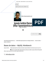 Bases de Datos – MySQL Workbench – Ignacio Justicia Ramos