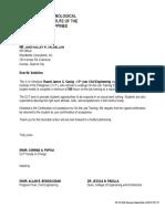 Endorsement Letter Woodfieldscaraig