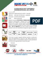 Certificado de Operaciones de Venta y Mantenimiento Extintores de Incendio