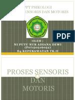 Ppt Psikologi Proses Sensoris Motoris