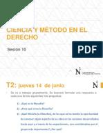 Sesión 10. Ciencia y Método en El Derecho