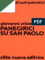 Panegirici Su San Paolo - Giovanni Crisostomo