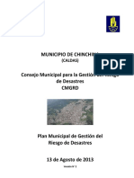 Plan Municipal de Gestion Del Riesgo de Desastres. Chinchina, Caldas