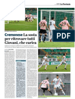 La Provincia Di Cremona 02-09-2018 - Cremonese