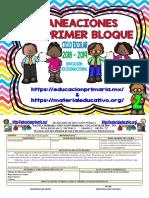 2do Grado - Dosificación 1er Trimestre (2018-2019)