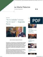 """""""Yo Te Indulto"""" Versus """"Yo Te Vaco"""" – Segunda Parte Rosa María Palacios"""