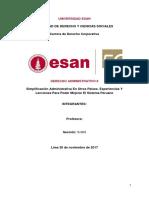 Derecho Administrativo - Simplificación Administrativa En Otros Países. Experiencias Y Lecciones Para Poder Mejorar El Sistema Peruano