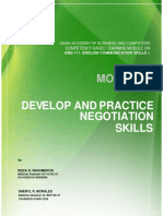 Develop and Practice Negotiation Skills