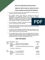 PRÉSTAMO DE LIBROS DE TEXTO PARA EL CURSO 2014-2015