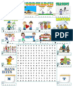 Seasons Months Days Wordsearch Wordsearches