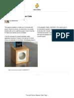Concrete Passive speaker
