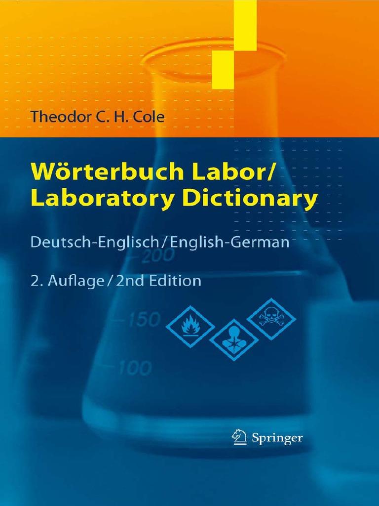 Wörterbuch Labor - Laboratory Dictionary (DE-EN) | Ethanol | Methanol