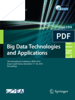 Big Data Technologies and Applications 7th International Conference BDTA 2016 Seoul South Korea November 17-18-2016 Proceedings