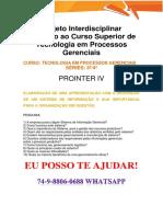 Anhanguera Prointer IV Processo Gerenciais