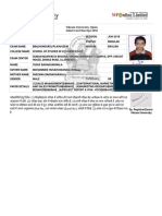 Admit Card 6th Sem