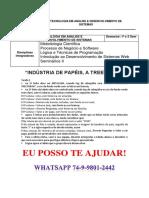 Unopar Desenvolv de Sistema - Indústria de Papéis, A Treetorah 1 e 2 Semestre