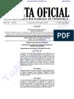 Gaceta Oficial -6400 Tarifas transporte rutas interurbanas y urbanas