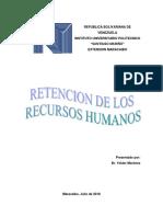 Retencion de Los Recursos Humanos