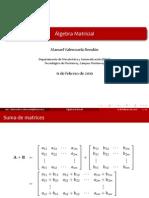 Algebra Matricial Beam