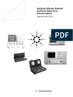 Application Note 1287-11 - Specifying Calibration Standards and Kits for Agilent Vector Network Analyzers