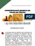 Conservacion Quimica de Pulpa de Fruta