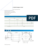 Stepper Motor Spec