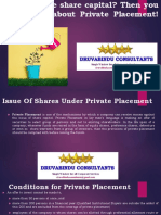 Want to raise share capital? Then you must learn about Private Placement!