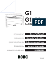 Korg G1 Digital Piano Manual