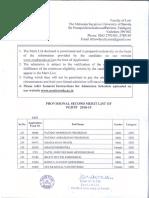 2nd Merit List PGDTP