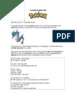 Learning English with Pokémon VII
