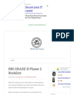 BOOKS for RBI GRADE B, Booklist for Rbi Grade b