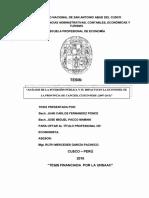 Analisis de La Inversion Publica y Su Impacto......