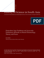 Premodern Yoga Traditions and Ayurveda (Jason Birch, 2018)