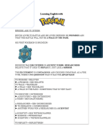 Learning English with Pokémon XIII