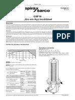 CSF16 Filtro Em Aço Inoxidável-Technical Information