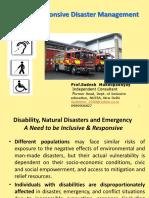 Disaster Management Presentation by Sudesh Mukhopadyay