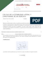 Cálculo de La Estabilidad Lateral y Longitudinal de Un Vehículo