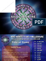 millionare game template.ppt