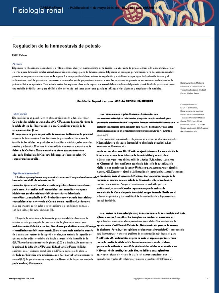 Wnk quinasas y la hipertensión esencial causan