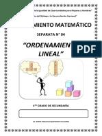 Separata 04 - Ordenamiento Lineal