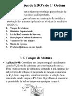 aula 04 - Equações Diferenciais de 1° ordem - aplicações
