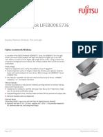 Notebook Computer LIFEBOOK E736 Datasheet