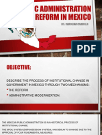 Public Administration Reform in Mexico