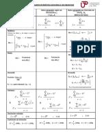 Formulario - Estadística Aplicada a Los Negocios