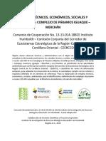 ESTUDIOS TÉCNICOS, ECONÓMICOS, SOCIALES Y AMBIENTALES COMPLEJO DE PÁRAMOS IGUAQUE – MERCHÁN