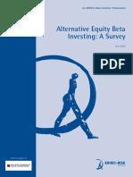 EDHEC Publication Alternative Equity Beta Investing Survey
