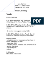 lesson plans-week 2-2018-2019
