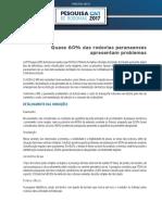Relatório CNT Rodovias 2017 Paraná