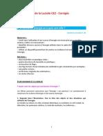 Les Cahiers de La Luciole CE2 - Lenergie Corriges