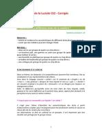Les Cahiers de La Luciole CE2 - La Matiere Corriges